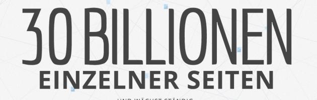 Google –30 Billionen Seiten