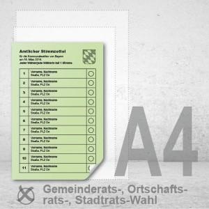 Stimmzettel Gemeinderatswahlen drucken Musterstimmzettel A4