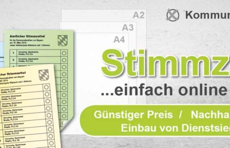 Stimmzettel Kommunalwahl drucken Musterstimmzettel