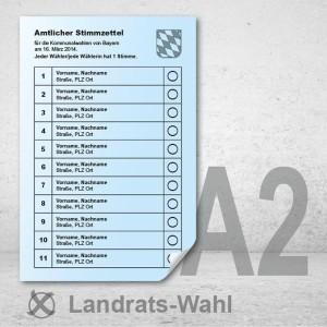Stimmzettel Landratswahlen drucken Musterstimmzettel A2