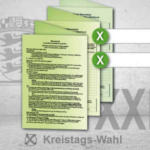 Stimmzettel Kreistagswahl drucken Musterstimmzettel
