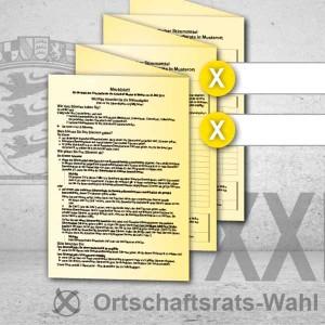 Stimmzettel Ortschaftsratswahl drucken Musterstimmzettel